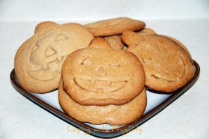 Sweet Potato Pie stuffed Jack o Lantern cookies