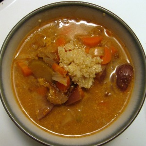 Root Vegetable Curry Quinoa Soup